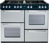 New World 100DFT Range Cooker Dual Fuel Double 100cm Silver