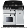 Rangemaster CLAS90NGFWH/B Classic 90 Natural Gas Range Cooker 73420