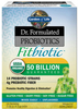 Garden of Life Dr. Formulated Probiotics Fitbiotic 50 Billion (Gluten & Dairy Free,  20 Vegetarian Packets)