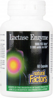 Digestive Tract|Multivitamins & Minerals  - Natural Factors Lactase Enzyme  (9000 FCC Units, 60 Capsules)