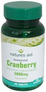 Treatment & Prevention|Multivitamins & Minerals  - Natures Aid Cranberry (200mg, 90 Tablets)