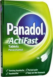 Treatment & Prevention|Sleep & Calming|First Aid  - Panadol Actifast Compack (14 Tablets)