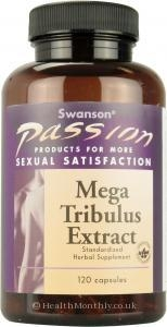 Health & Wellbeing|Treatment & Prevention|Herbal Remedies & Natural Medicines  - Swanson Passion Mega Tribulus Extract (120 Capsules)