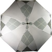 Trolleys  - Diamond  Pattern  Umbrella  (Silver/White)