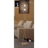 Rosa Del Desierto 2 Light Halogen Floor Lamp In Antique Brass Finish