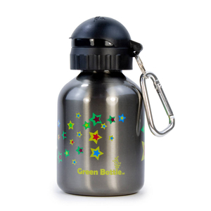Tablet PC Accessories  - Green Bottle BPA Free / Non Toxic Water Bottle 350ml for Kids - Carbon Grey