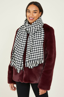 Dresses  - Black Dogtooth Scarf