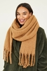 Camel Recycled Scarf