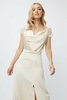 Little Mistress Bridesmaid Teigen Cream Satin And Croche
