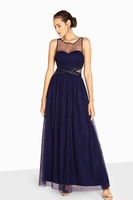 Clothing & Accessories  - Little Mistress Katie Jewel Waist Maxi Prom Dress
