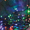 80 Multi-Colour LED Multi-Function String Lights - Green Cable