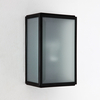 Astro Homefield Outdoor Wall Light - Black with Frosted Glass