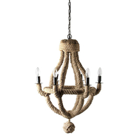 Ceiling lights  - Culinary Concepts 6 Light Rope Chandelier - Standard