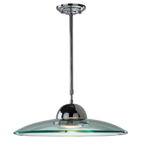 Lighting  - Dar Hemisphere Telescopic Ceiling Pendant Light - Polished Chrome