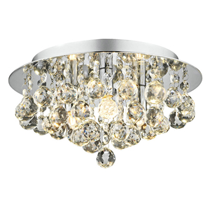 Lighting  - Dar Pluto 3 Light Flush Ceiling Light