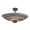 Lighting David Hunt Swirl Semi-Flush Ceiling Light - Black