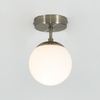 Edit Evie Semi-Flush Glass Ceiling Light - White