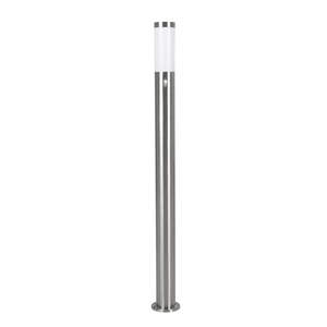 Lighting  - Eglo Helsinki Stainless Steel Outdoor Post Light with PIR Sensor - Large