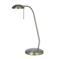 Lighting  - Endon Hugo Desk Lamp - Antique Brass