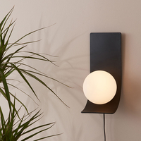 Desk Lamps  - Jay Wall Light with Plug - Black