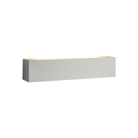 Uplighters  - Jazz 370 Low Energy Plaster Wall Light - Satin White