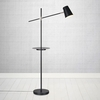 Linear Floor Lamp with USB Charging Port - Black