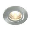 Luceco Atom 5W Dimmable Cool White LED Fire Rated Downlight - Brushed Steel