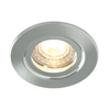 Luceco Atom 5W Dimmable Warm White LED Fire Rated Downlight - Brushed Steel