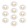 Luceco Atom 5W Dimmable Warm White LED Fire Rated Downlights with White Bezel - Pack of 10