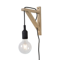Lucide Fix Wall Light with Plug - Black
