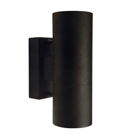 Tin Twin Wall Light - Black