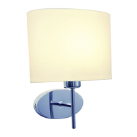 Lighting  - Dar Padova Wall Light with Cream Shade