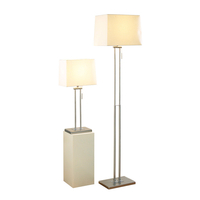 Decorative Lighting  - Dar Picasso Floor and Table Lamp Set - Satin Chrome