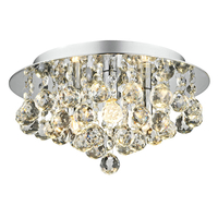 Decorative Lighting  - Dar Pluto 3 Light Flush Ceiling Light