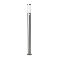 Outdoor Effects  - Eglo Helsinki Stainless Steel Outdoor Post Light with PIR Sensor - Large