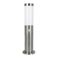 Outdoor Effects  - Eglo Helsinki Stainless Steel Outdoor Post Light with PIR Sensor