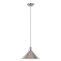 Pendant Lamps  - Elstead Provence Ceiling Pendant Light - Polished Nickel