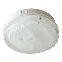 Bathroom Lighting  - Eterna Hydra 16W Low Energy Flush Light with Prismatic Diffuser