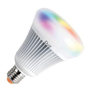 Light Bulbs  - iDual 16W Colour Changing Dimmable LED Remote Controlled Globe Bulb with Remote Control - Screw Cap