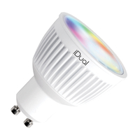 LED lamps  - iDual 5W Colour Changing Dimmable LED Remote Controlled GU10 Bulb