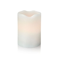 Home & Garden  - Jan Battery Operated LED White Wax Candle - 100mm