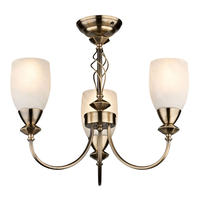 Decorative Lighting  - Keats 3 Light Low Energy Pendant - Antique Brass