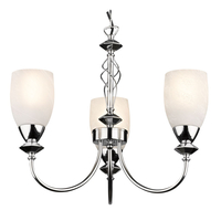 Decorative Lighting  - Keats 3 Light Low Energy Pendant - Polished Chrome