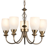 Decorative Lighting  - Keats 5 Light Low Energy Pendant - Antique Brass
