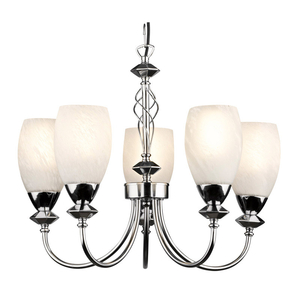 Decorative Lighting  - Keats 5 Light Low Energy Pendant - Polished Chrome