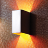 Luster Quadrate Wall Light - White and Gold