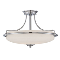 Home & Garden  - Quoizel Griffin Large Semi-Flush Ceiling Light - Antique Nickel