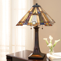 Table Lamps  - Quoizel Tiffany Inglenook 2 Light Table Lamp