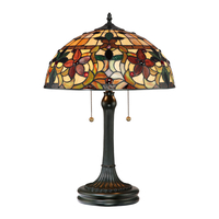 Table Lamps  - Quoizel Tiffany Kami 2 Light Table Lamp