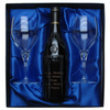 Engraved Chateauneuf Du Pape Wine Set with Wine Glasses